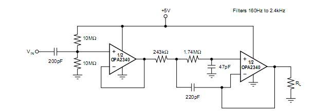 opa2340ua电路图应用