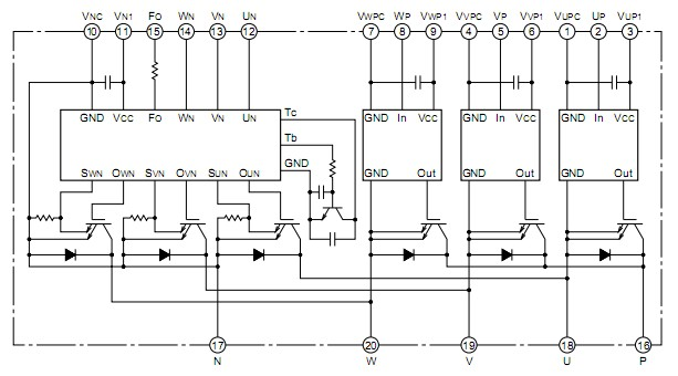 600v,20a的电流检测重复率达6khz的igbt型逆变器 igbt栅极驱动电路