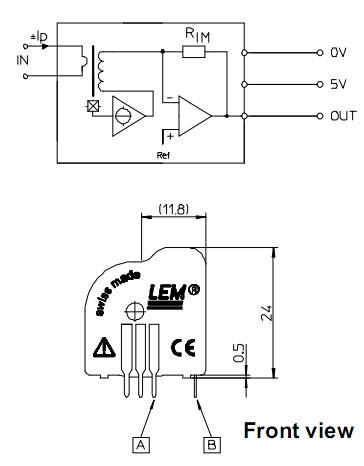 15a/电流传感器电路图表