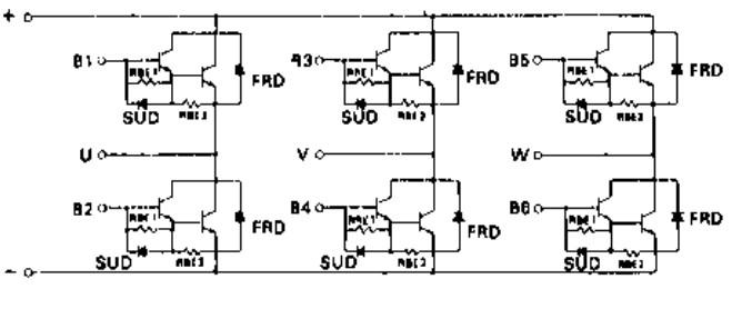 6di120c-060 120a/600v/功率晶体管模块电路图表