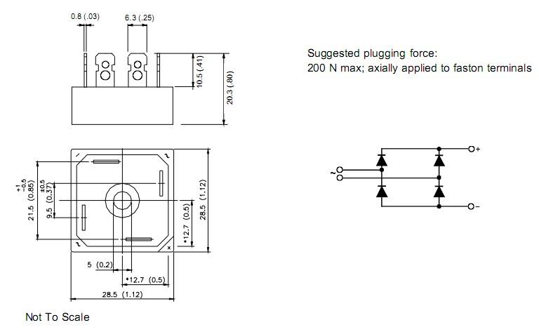 26mb160a mb高压单相桥系列模块电路图表