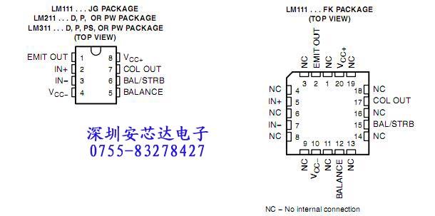 lm311高速电压比较器特点