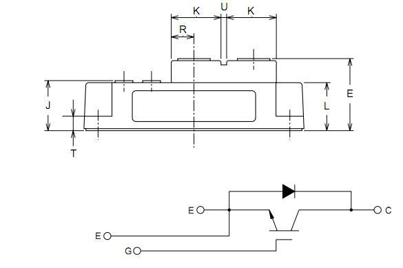 三菱IGBT模块的设计应用的使用中切换。每个模块了CON - sists一个在单一浓度的IGBT二极管外形与反向连接的超快速恢复自由轮。所有组件和互连是隔离的散热基板,提供简化的系统五月在瑞士和散热管理。