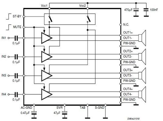 tda7388介绍|tda7388应用电路图