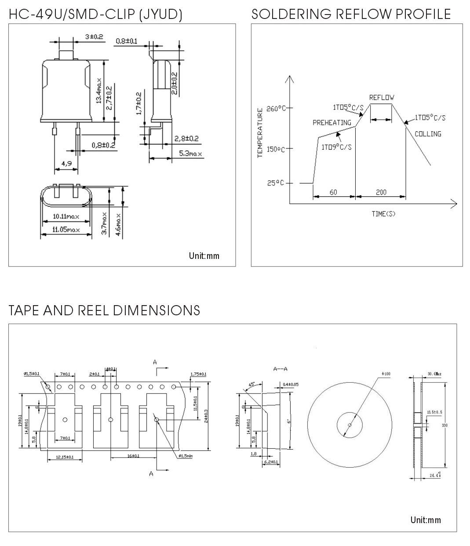 石英晶体谐振器hc-49u