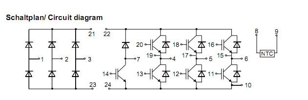 bsm10gp120 10a/1200v/igbt模块电路图